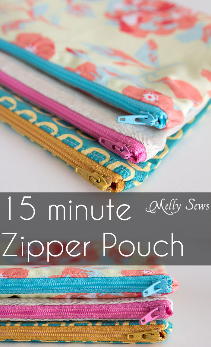 How to sew a zipper pouch - tutorial from Melly Sews | The Daily Seam