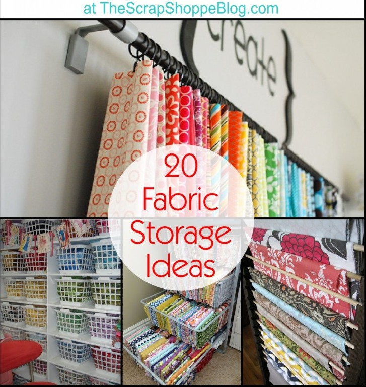20 fabric storage ideas perfect for organizing craft rooms