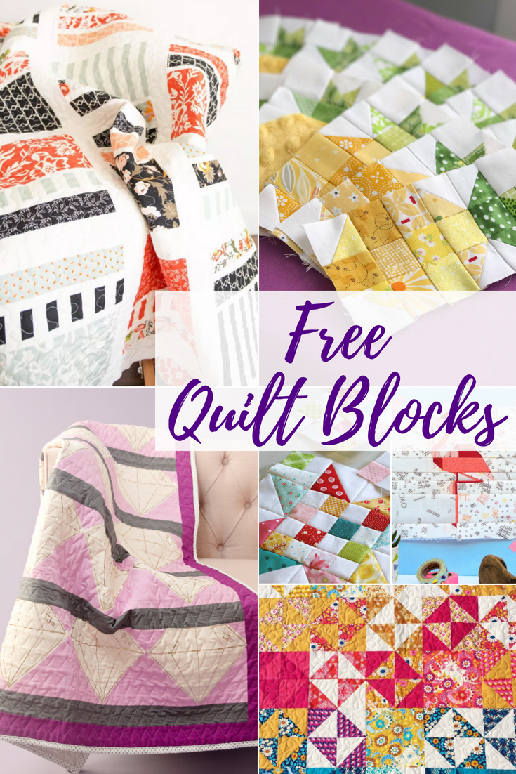 Stay inspired with these easy to make free quilt block patterns. Each pattern can be turned into a full quilt with a simple layout.