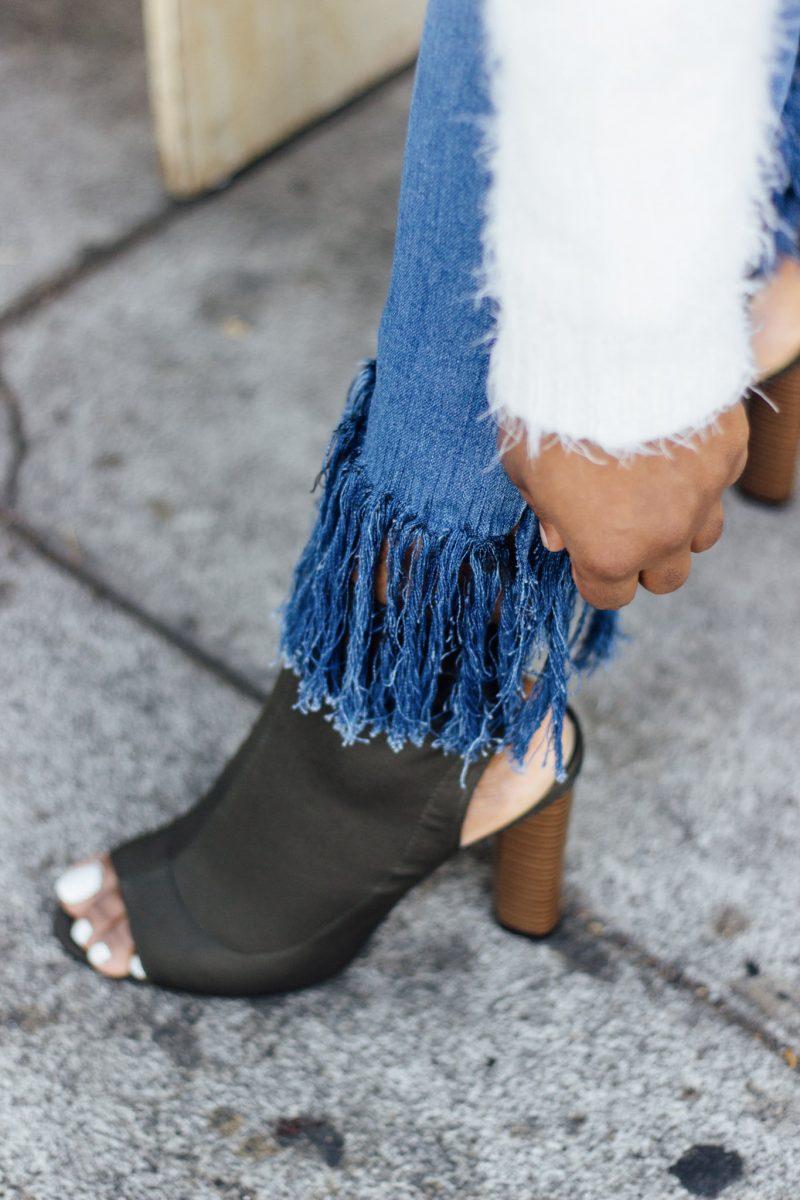 DIY Fringe Denim Jeans