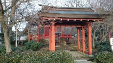 A small shrine next to the main building, but it has its own gate.