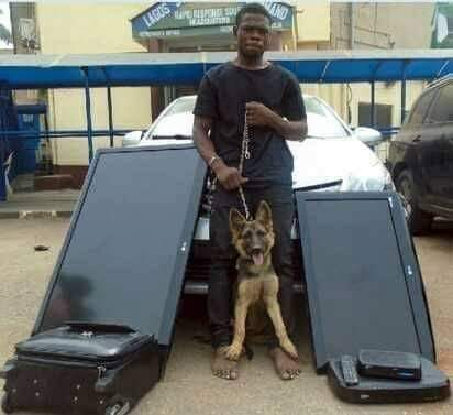 Police don gbab man wey enter person house steal properties, come thief him security dog join 3