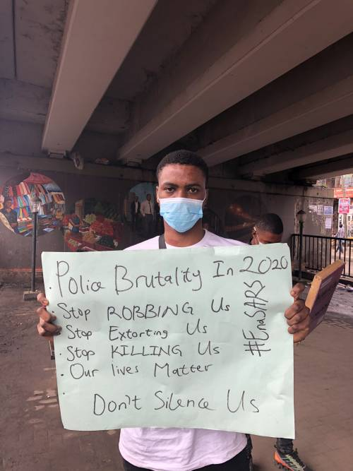 Three-day #ENDSARS protest commences in Lagos (Photos) 2