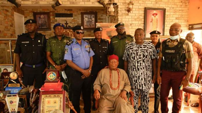AIG visits Nnewi burnt stations, solicits monarch, stakeholders' support 1