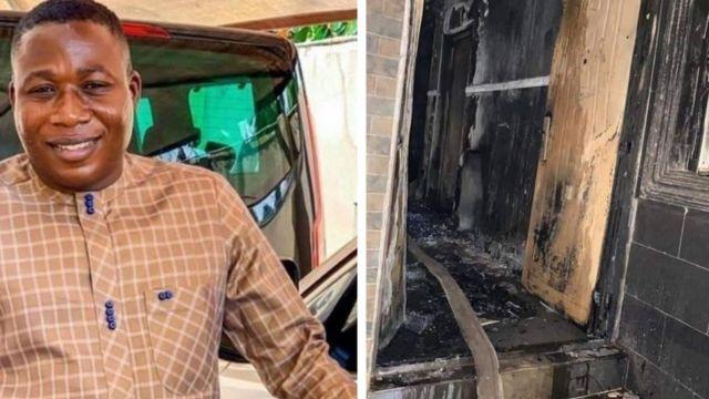 Fire razes Sunday Igboho's house in Oyo 3