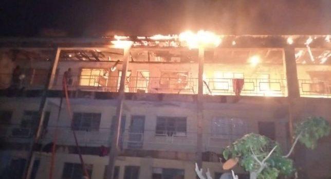 Fire razes soldiers' quarters at Nigerian Army Depot in Kaduna 3