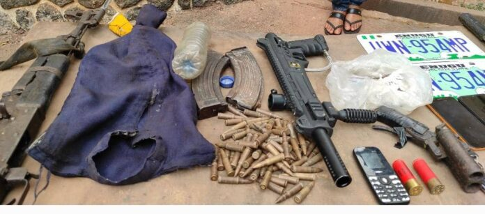 Enugu Police command parades 11 suspects, recovers stolen vehicles, arms, ammunitions 1