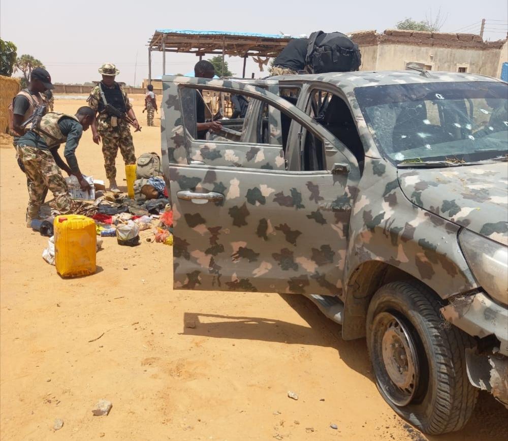 Troops neutralise 21 Bokoharam/ISWAP terrorists, recover gun trucks, assorted weapons 6