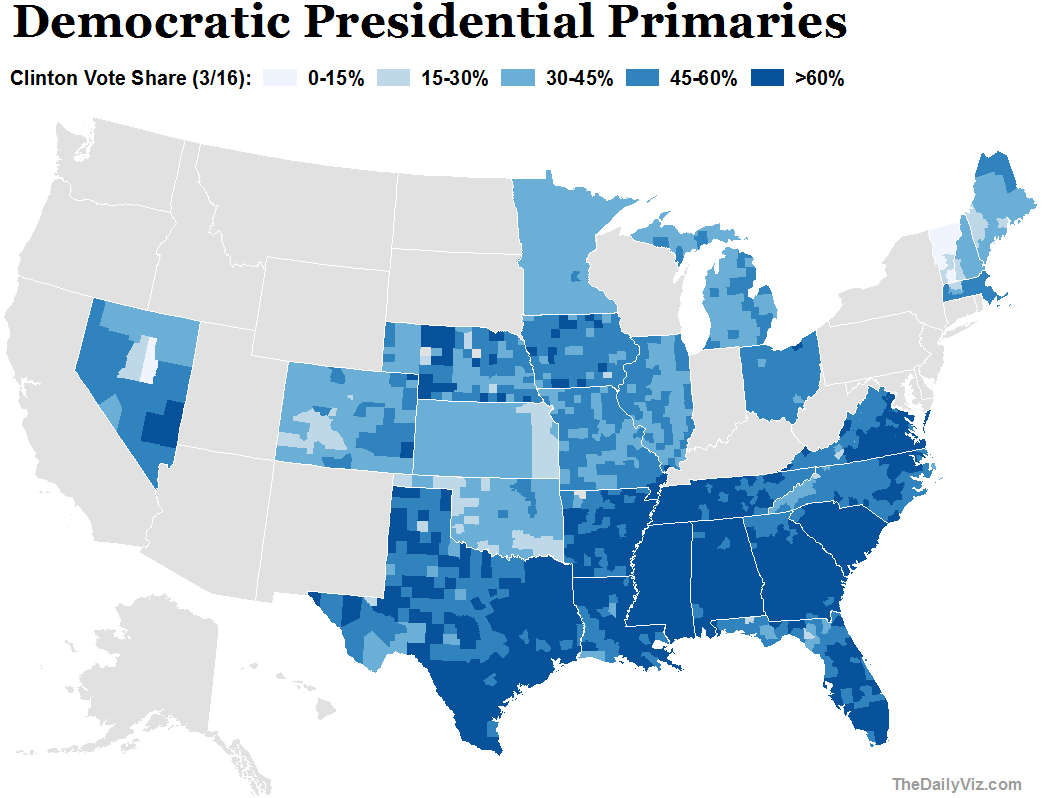 Primary Results Dems Clinton