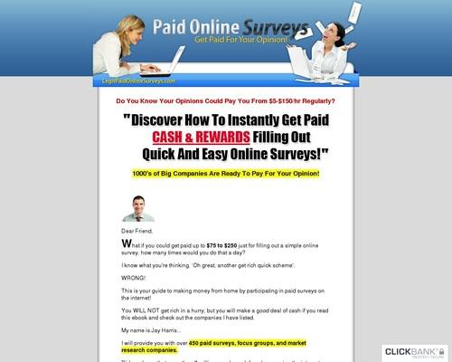 LegitPaidOnlineSurveys com – Getting Paid for Online Surveys! – The
