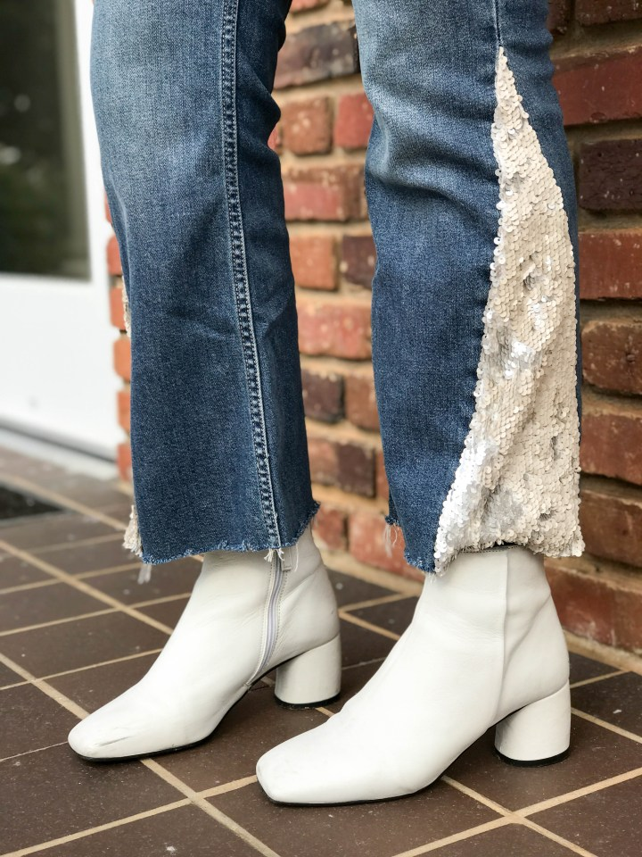 Sequin Flare Jeans