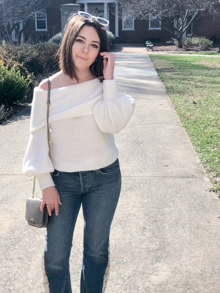 sequin flare jeans 7