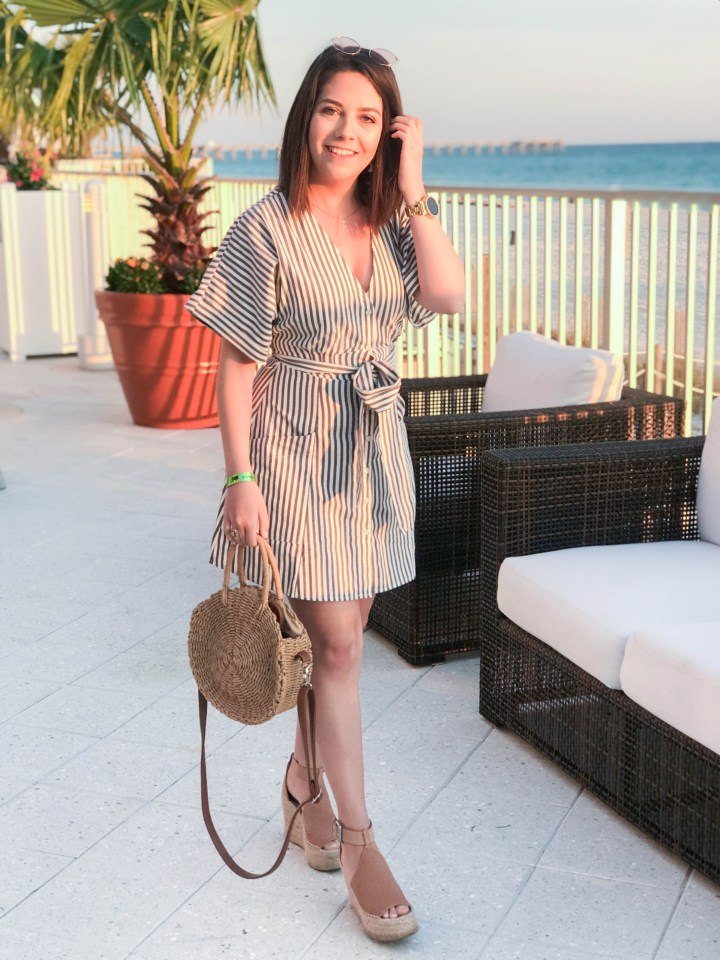 striped dress and panama city beach 4