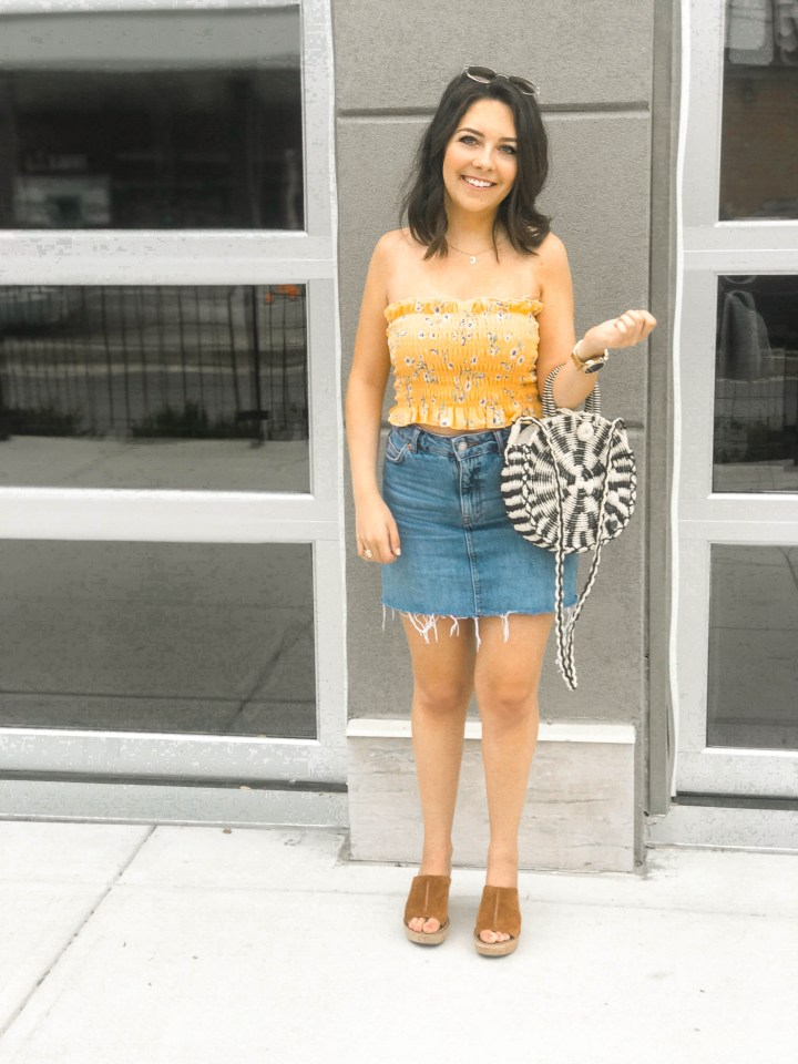Summer Staples- Smocked Tops and Denim Minis 2