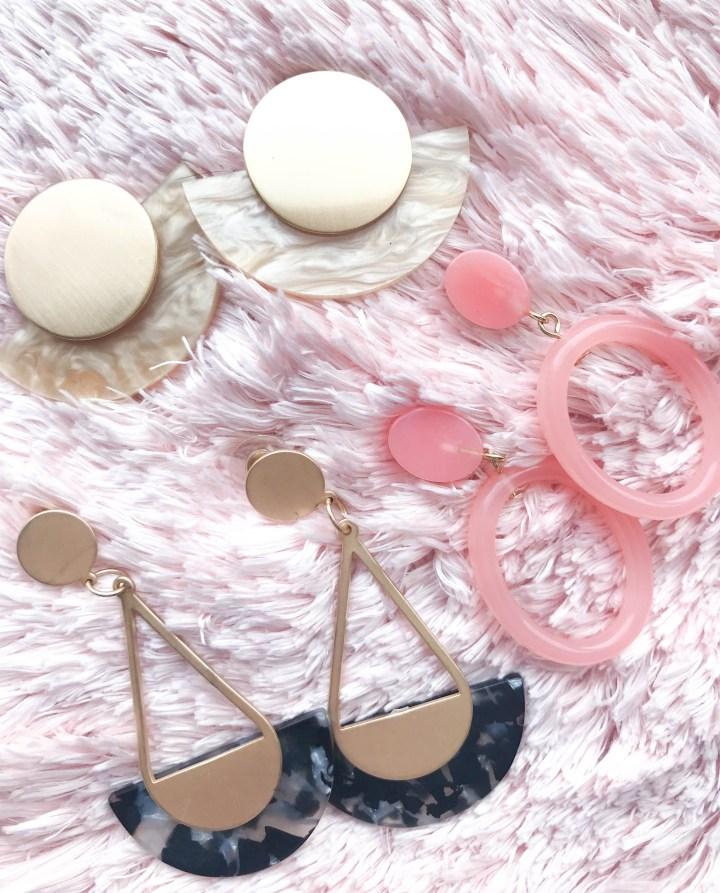 A Dainty Detail: Resin Earrings
