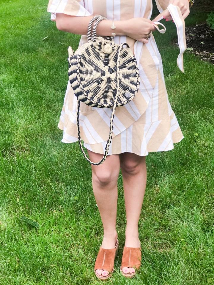 striped wrap dress + my favorite new shoes 2