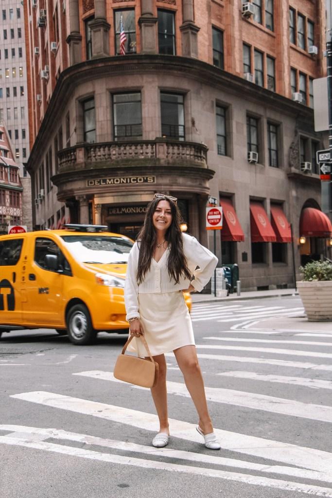 pastel yellow skirt