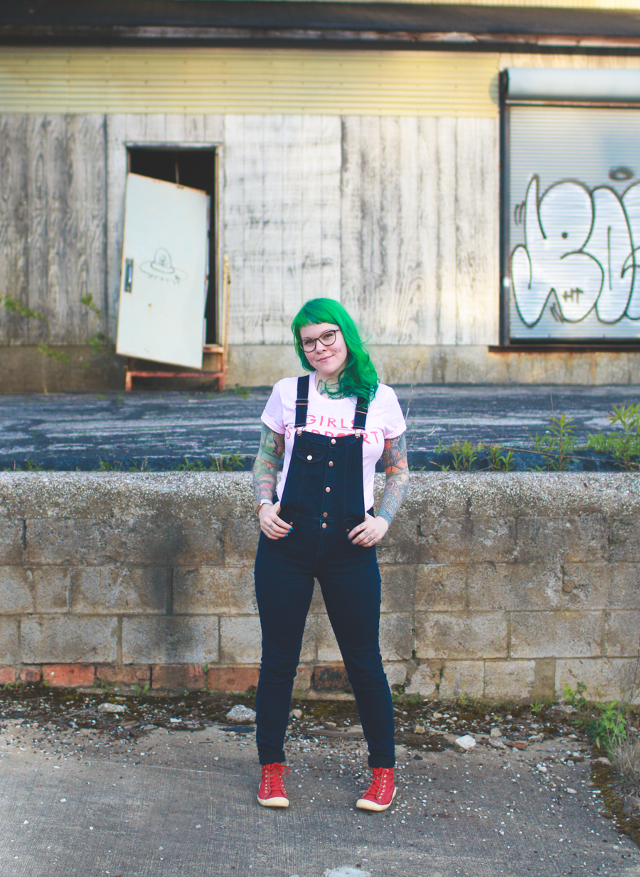 green hair, fashion blog, what I wore, kaylah doolan