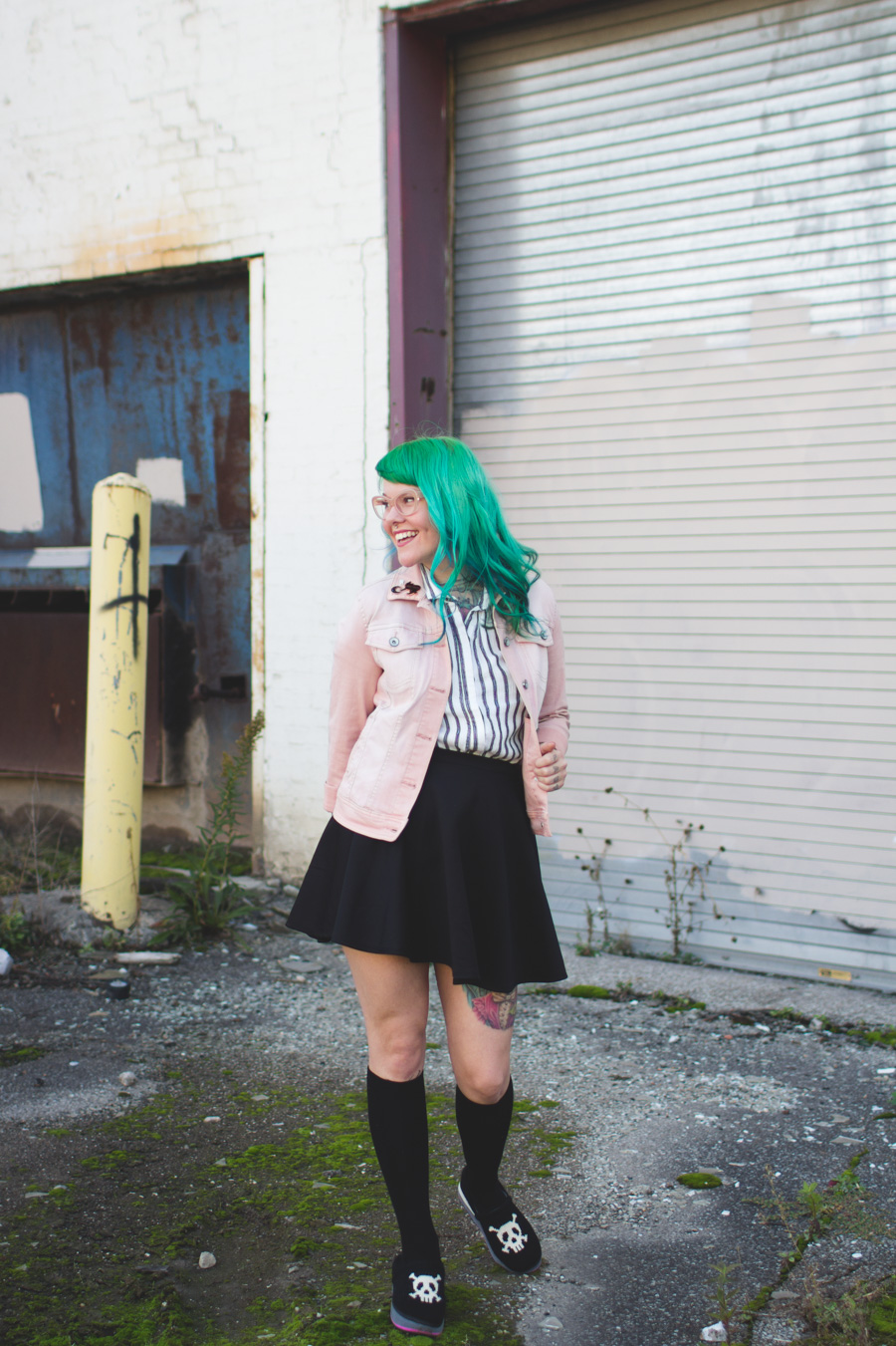 kaylah doolan, fashion blog, cleveland, blogger, ohio, green hair
