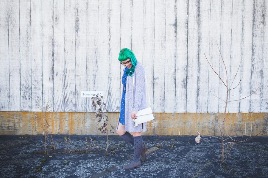 cleveland blogger, ootd, green hair, kaylah doolan