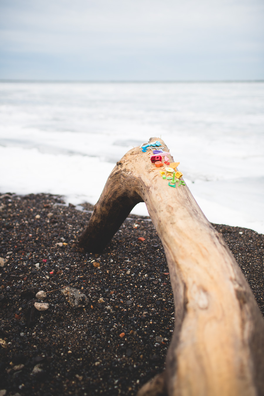 cleveland, beach combing, rainbow trash