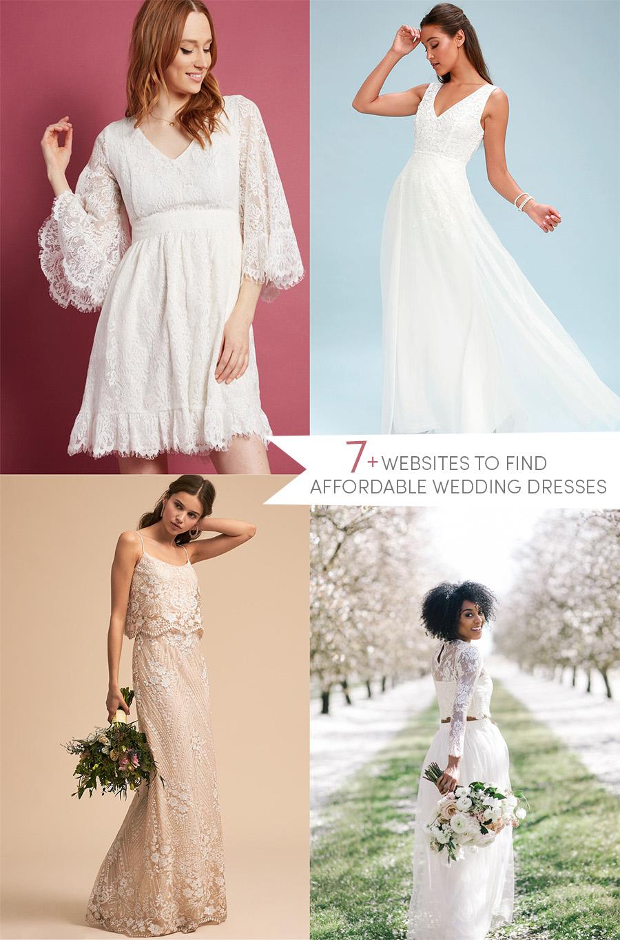 7+ websites to find affordable wedding dresses!