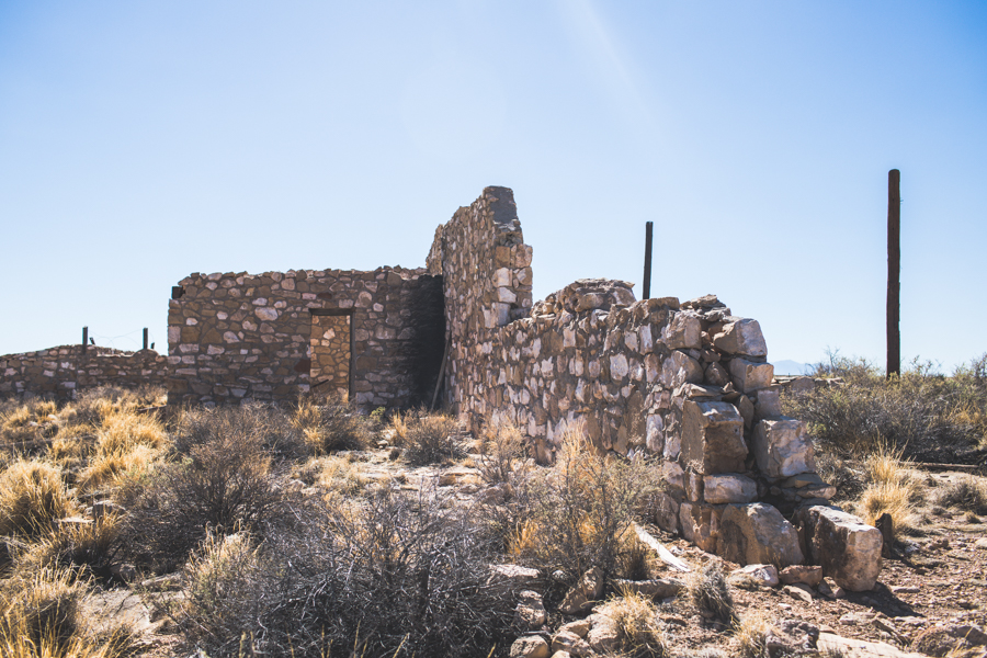 ruins at Two Guns ghost town