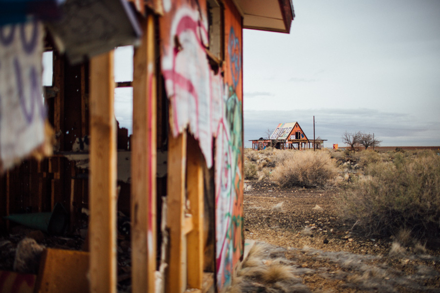 ghost town of Two Guns, Arizona
