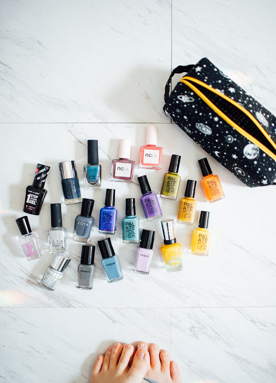 nail polish storage pouch