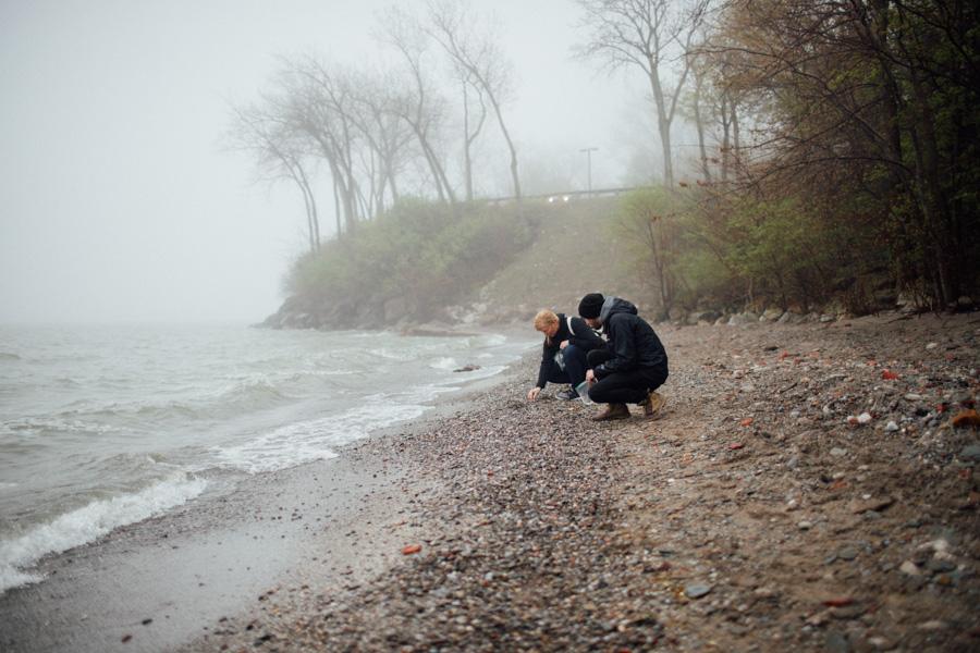Beachcombing Lake Erie