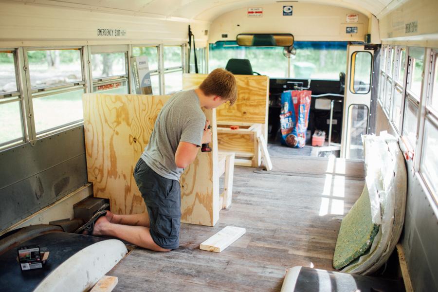 school bus renovation