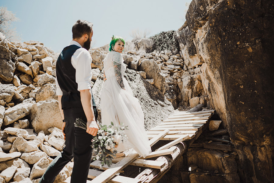 Apache Death Cave wedding