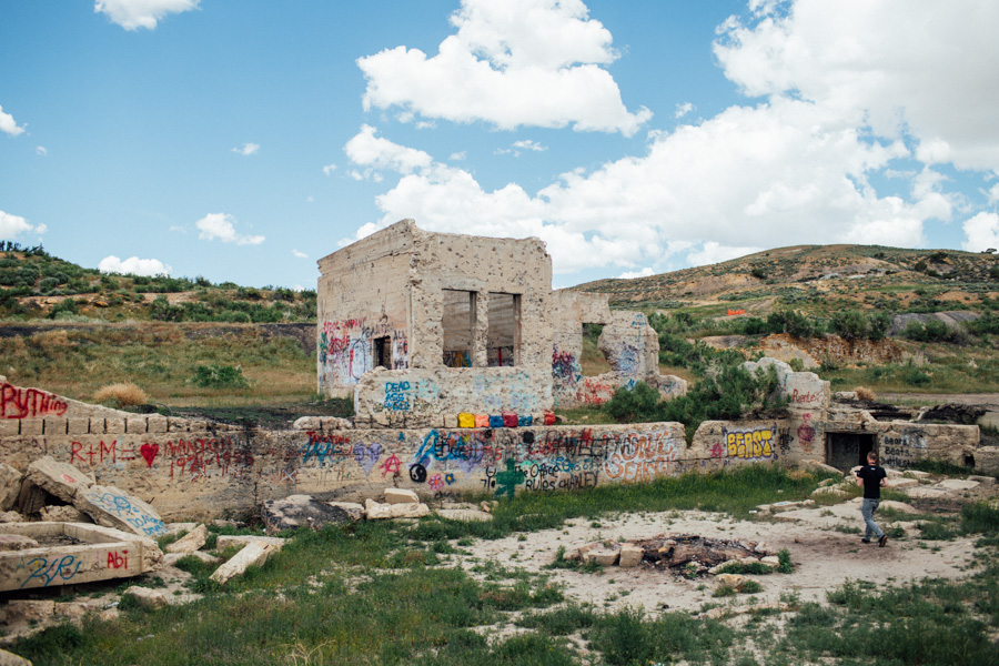 Ghost town of Winton, Wyoming