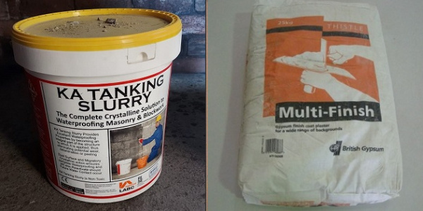 can you plaster over tanking slurry