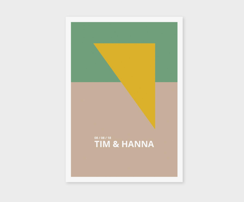 trouwkaart, geometrisch