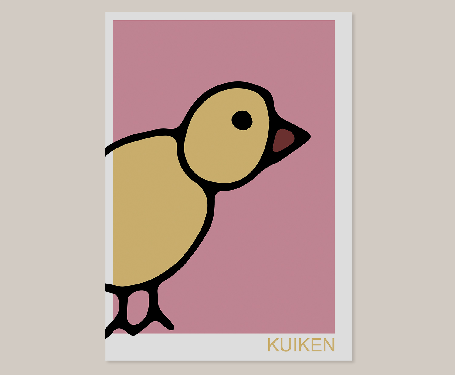 Roze Muurdecoratie Kinderkamer.Kuiken The Dance Part