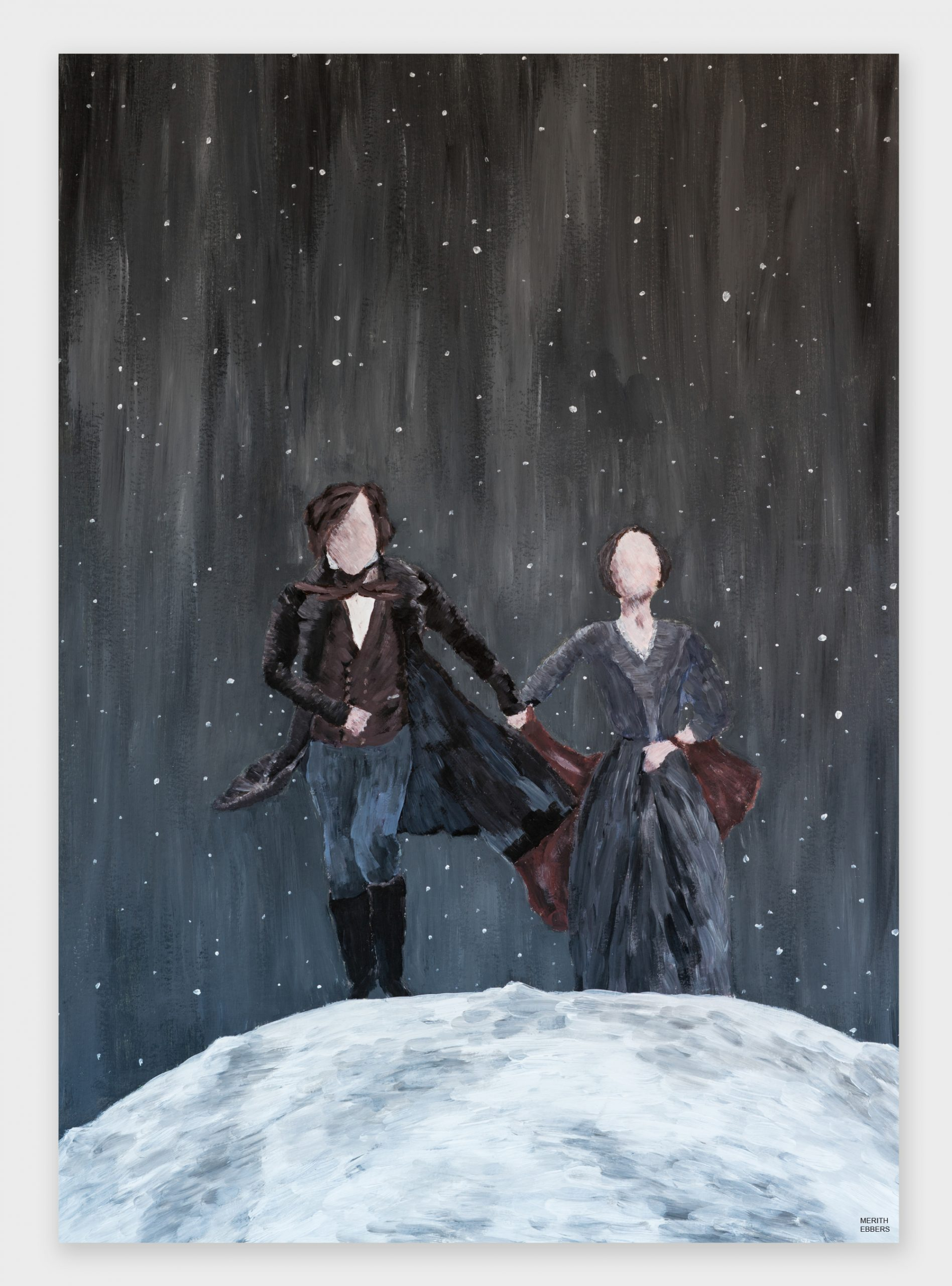 Jane Eyre Acrylic Painting Titled To The Moon