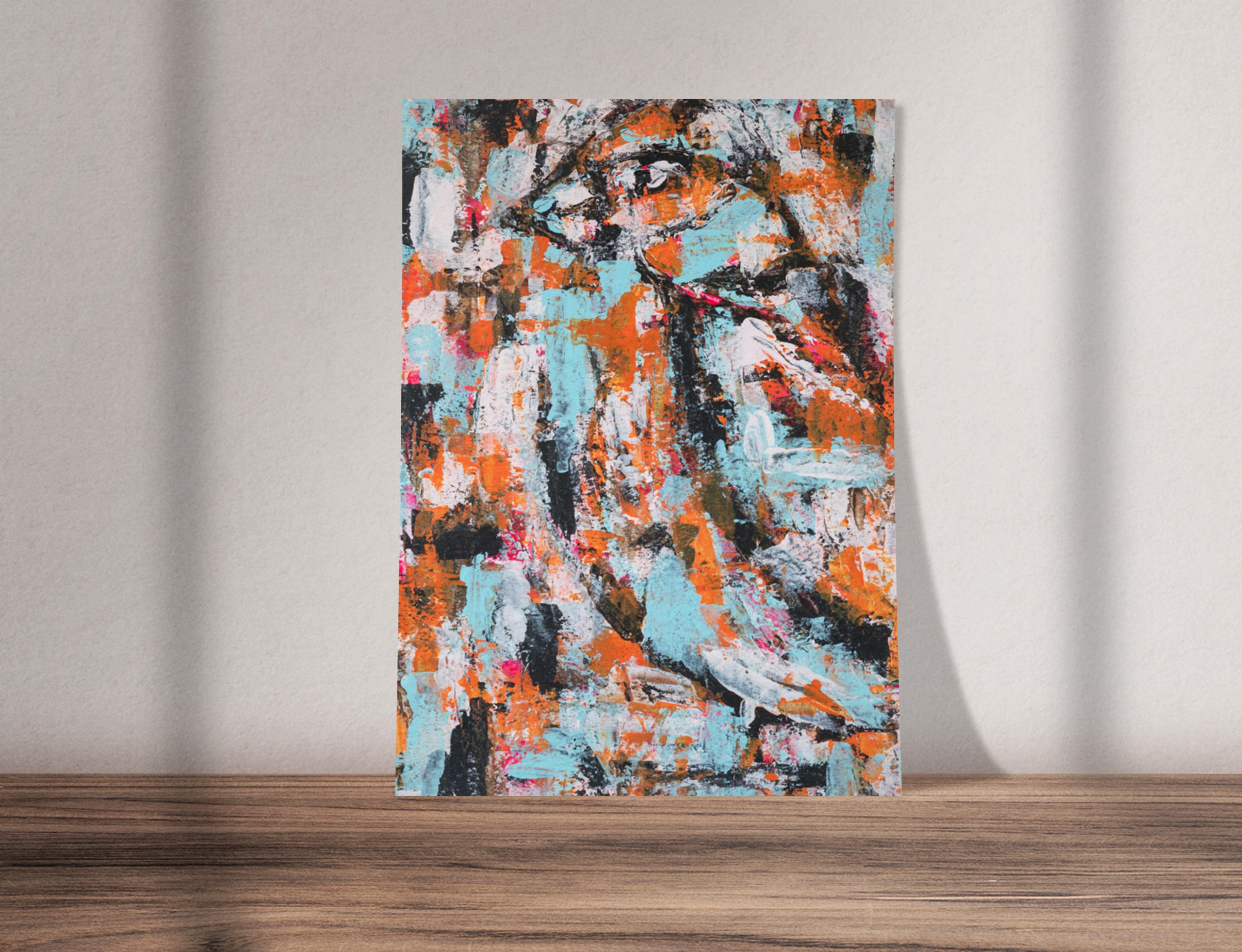 wiser than we know abstract bird painting