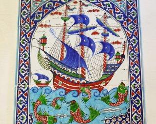 Tile Pictures Ceramic Boat