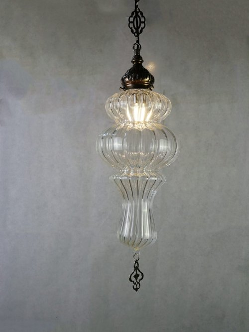The Rose hand blown glass ceiling light