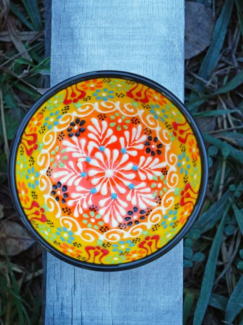10 cm medium sunset hand painted turkish bowl