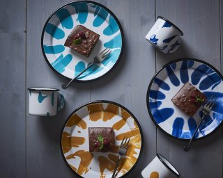 A little Colour hand painted Enamelware