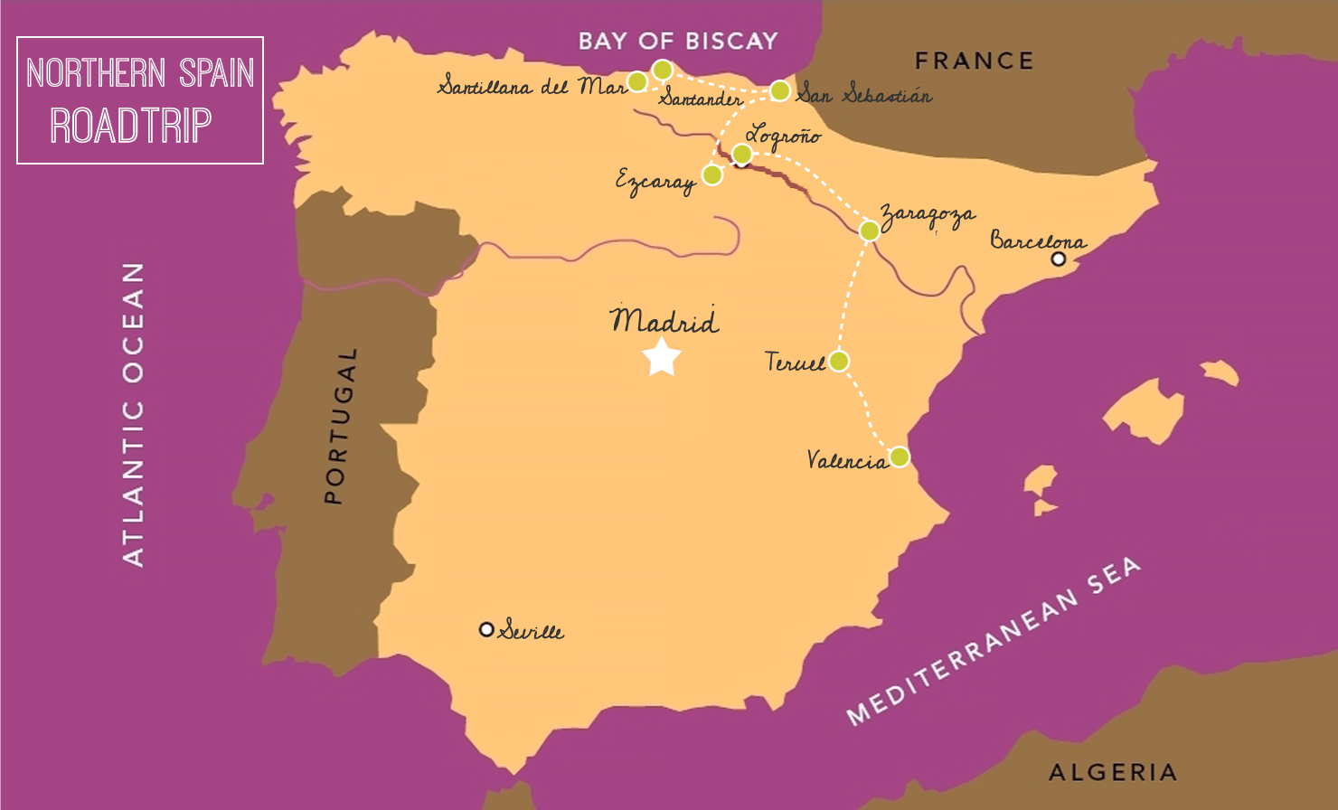 Road Map Of Northern Spain.My One Week Northern Spain Road Trip Itinerary The Daph Exchange