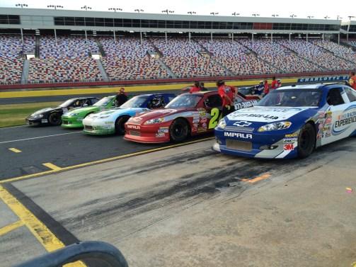 NASCAR starting line