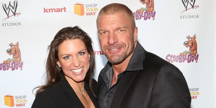 NEW YORK, NY - MARCH 22: Stephanie McMahon and Triple H attend Scooby Doo! WrestleMania Mystery at Tribeca Cinemas on March 22, 2014 in New York City. (Photo by Taylor Hill/FilmMagic)