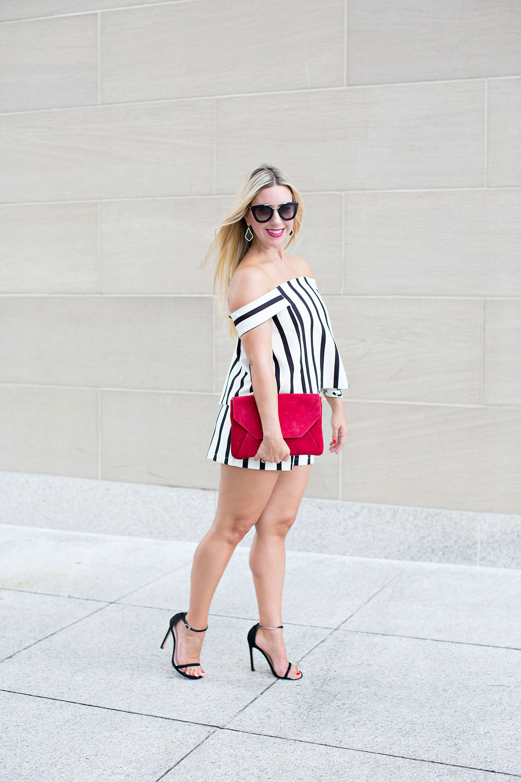 Striped Romper - Top Shop - Dallas