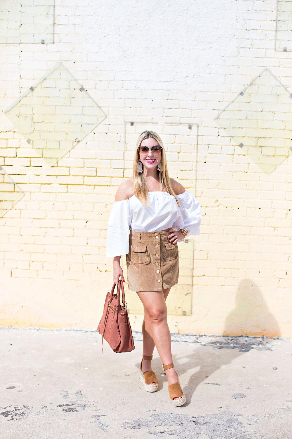 The Darling Petite Diva Blog - Corduroy Skirt- Dallas TX