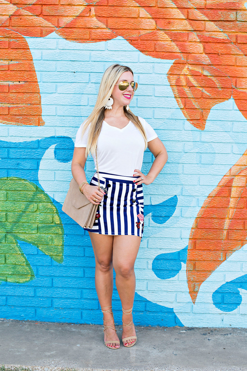 Kiss Me Patch Skirt- Nicole Kirk - Blogger