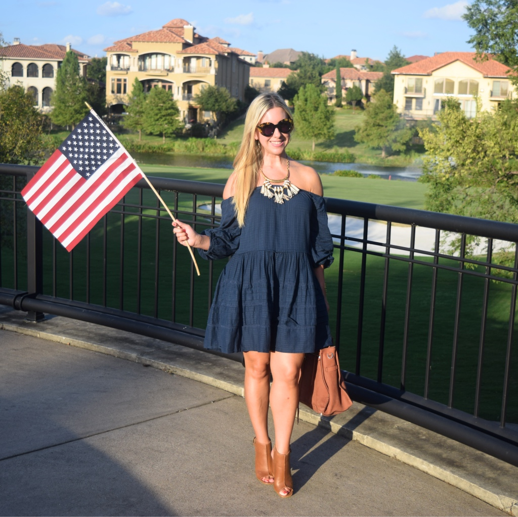 Free People Dress - Off the shoulder - Dallas Blogger- Fashion