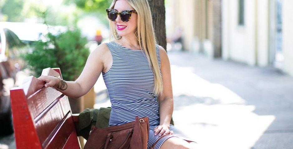 Theory Striped Dress - Dallas Fashion